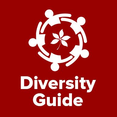 icon graphic of people in a circle with the words diversity guide